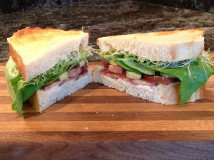 Classic BLT and Avocado with Butter Leaf Lettuce and Sprouts
