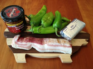 Bacon Wrapped Green Chili Ingredients