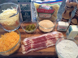 Mac & Cheese with Bacon Ingredients