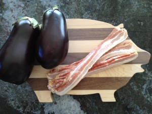 Eggplant & Bacon Ingredients