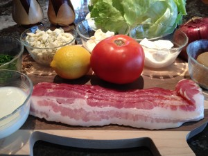 Wedge Salad with Candied Bacon -- Ingredients
