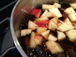 Mission figs & apples simmered in maple syrup brown sugar