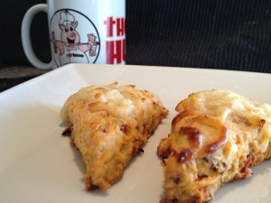 The Bacon Hunter's Bacon & Sun Dried Tomato Scones!